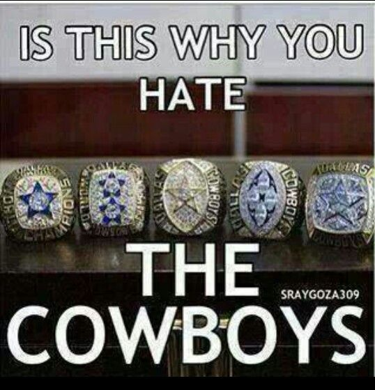 Is this why U hate the COWBOYS??? Hahahaha