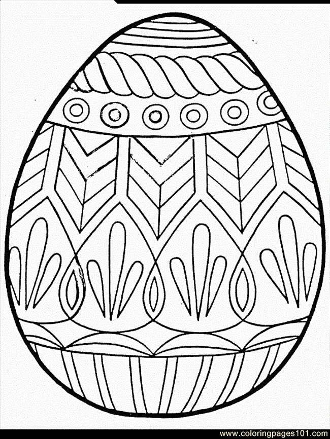 Free Printable Easter Egg Coloring Pages Sheets For Kids Adults