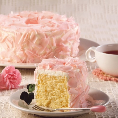 lovely floral chiffon cake