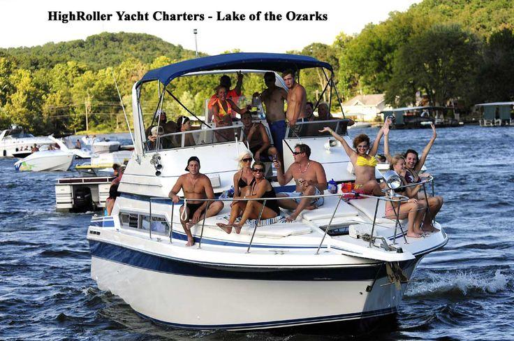 Enjoy lake of the ozarks with highroller yacht boat