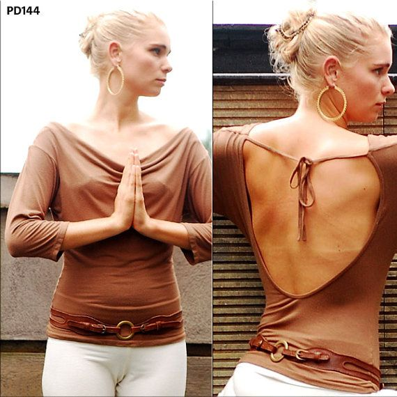 Leslie Open Back Top for Womens Summer Fashion by Paramita Designs Yoga Wear on Etsy, $48.00