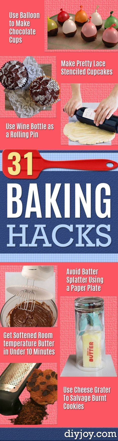Love spending time in the kitchen baking amazing treats and desserts? So do I, and was I ever happy when I came across some of the most awesome baking hacks eve