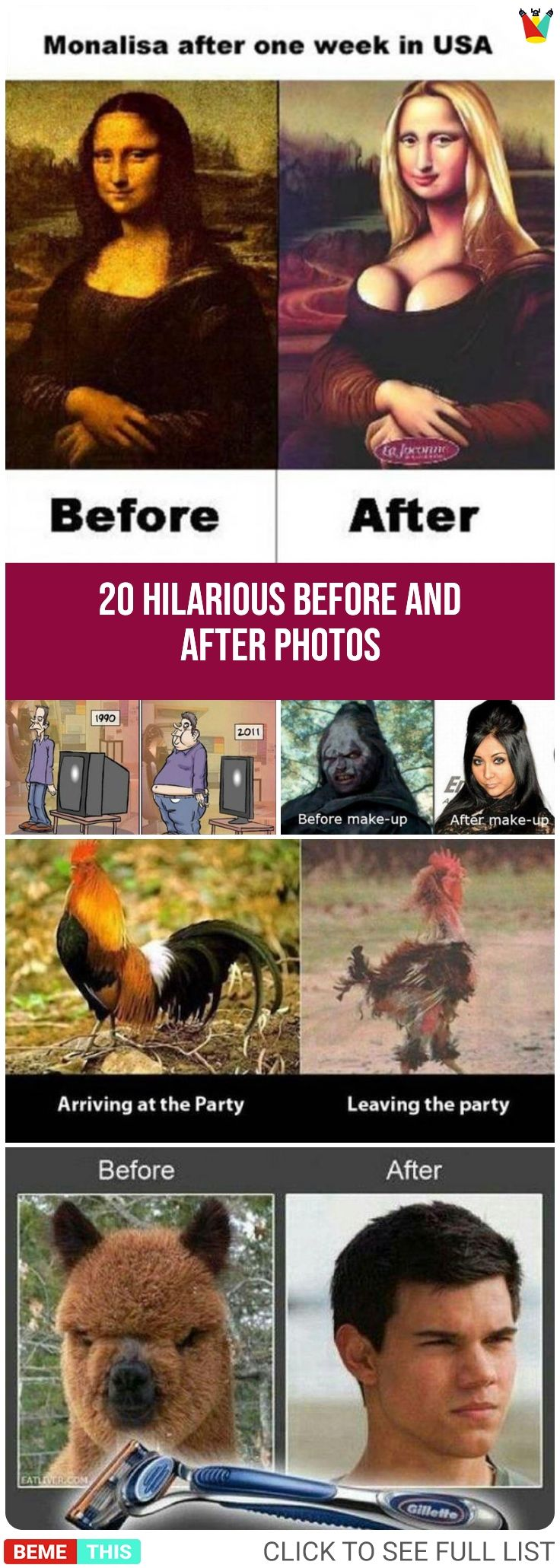 20 Hilarious Random Dump of Before and After Photos #funnypics #funnypictures #beforeandafter #humor #random #photos #bemethis