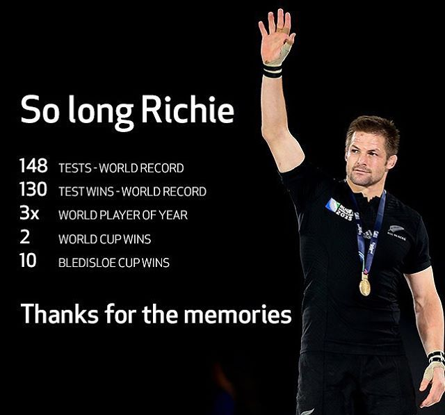 #AllBlacks captain Richie McCaw announced his retirement from #rugby today. It might not be a huge surprise, but we're all a little heartbroken. We'll miss you on the pitch, Captain. #allblackslegend #allblackeverything #richiemccaw
