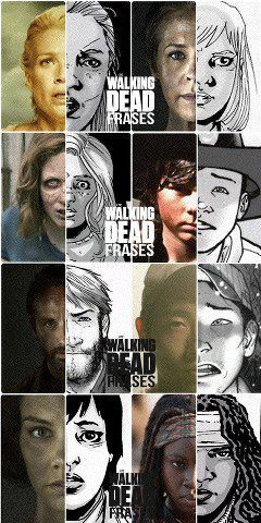okay they got Sophia right, Carl sort of but he's grown up now Glenn looks a lot like his character Rick just slightly and Michonne looks a lot like hers