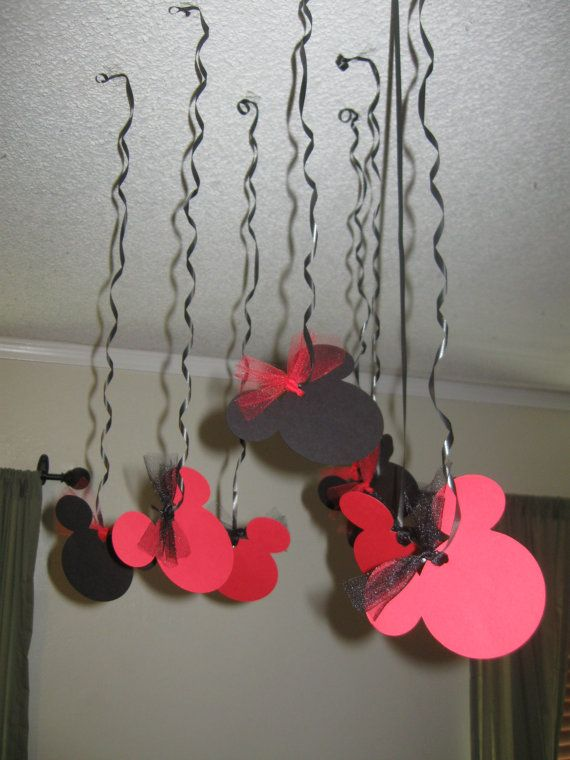 Mickey Mouse Birthday streamers Minnie Mouse Birthday Party Streamers on Etsy, $8.99