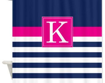 pink striped curtain on Etsy, a global handmade and vintage ...