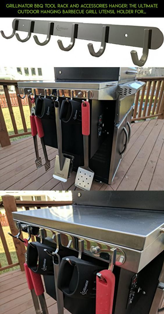 Grillinator BBQ Tool Rack and Accessories Hanger: The Ultimate Outdoor Hanging Barbecue Grill Utensil Holder for Gas, Pellet or Wood Grills Installation … (Shiny Stainless Steel) #drone #products #shopping #parts #grills #technology #hooks #tech #racing #