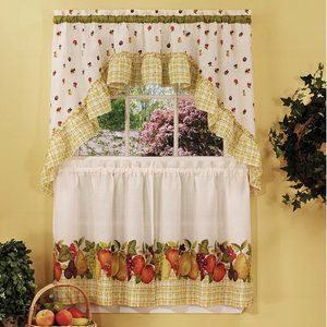 Achim Importing Co Fruit Medley 57'' Valance and Tier Set