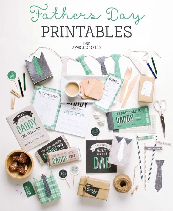 Free Father's Day Printables from A Whole Lot of Tiny