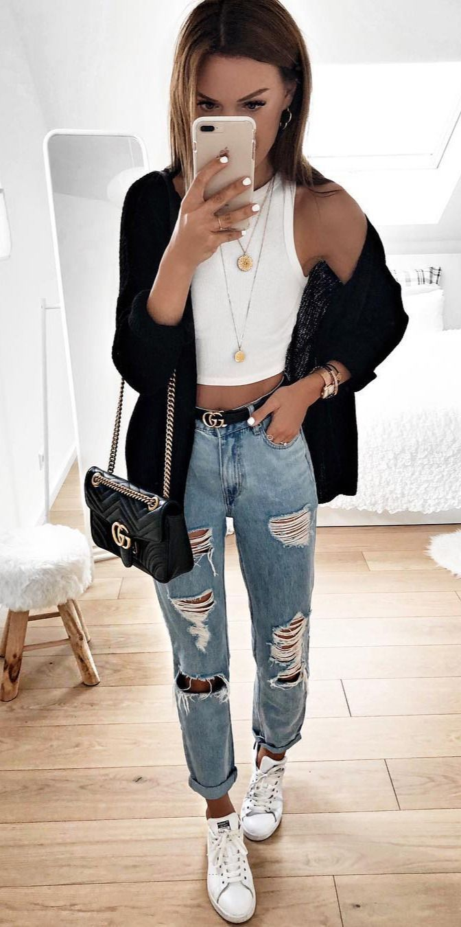 7c71391052d8 70 Street Outfits that ll Change your Mind -  Fashion  Outfit  Outfitideas   Good  Top