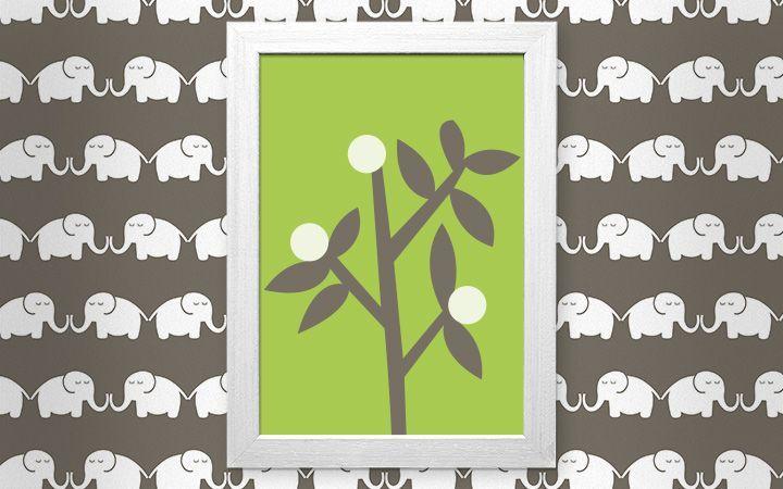 Bild Elephants, for him - Designer Tapeten DecorPlay
