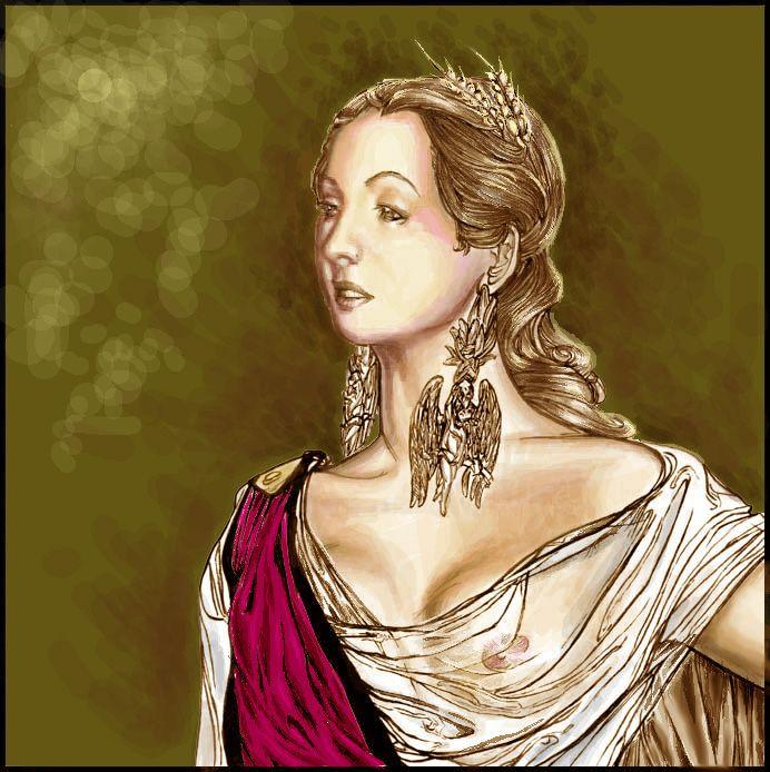 Persephone's portrait by CORinAZONe.deviantart.com on @deviantART