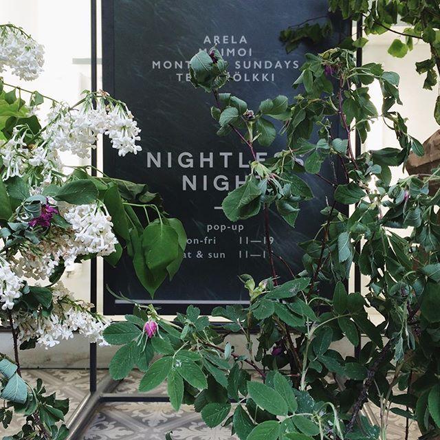 Sneak peek | Nightless night pop-up opens tomorrow. Summer goods and those midsummer vibes from @monthofsundayshelsinki @moimoiaccessories @terhipolkkishoes and yours truly.  Made possible by @bedesignfinland @joutodesign @jymyicecream @lignellpiispanenintl @untorautio @uploudaudio  Unioninkatu 25, Helsinki. Mon-Fri 11-19, Sat-Sun 11-17. Welcome  #arelastudio #monthofsundayshelsinki #moimoiaccessories #terhipölkki #nightlessnightpopup #torikorttelit #helsinkishopping #midsummermagic