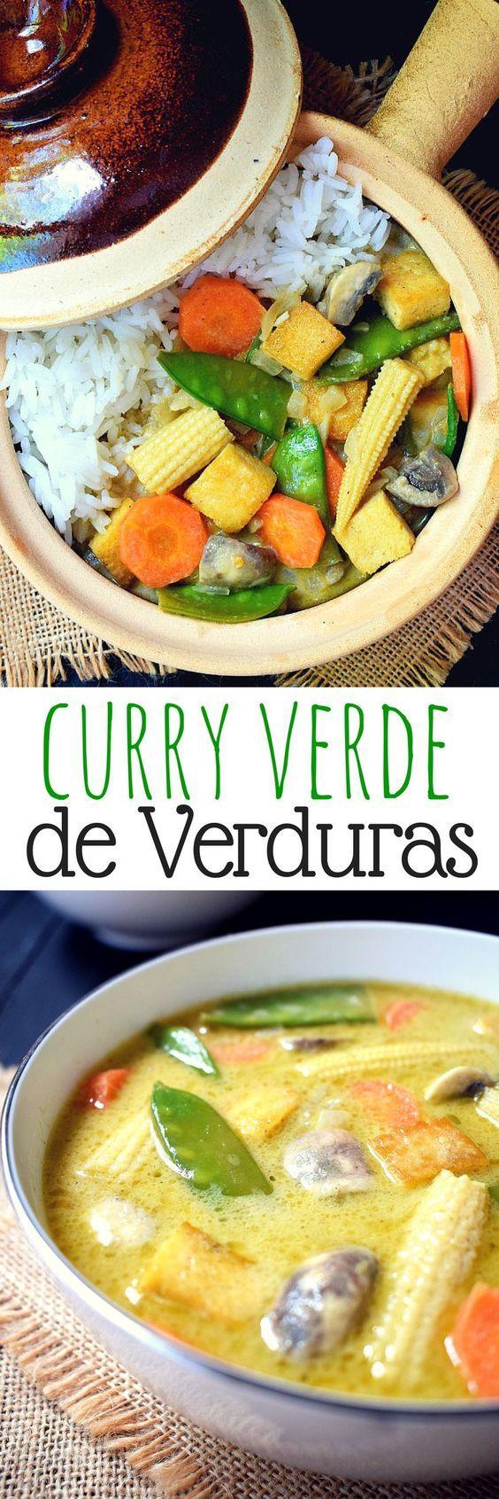 Salado, dulce, picante y ácido - se puede usar todos los adjetivos para describir este curry verde de verduras. Lo mejor de todo? Esta listo en menos de 30 minutos!