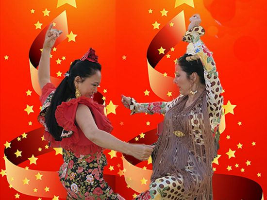 "San Jose, CA ~ The Flamenco Society of San Jose hosts ""Christmas Flamenco Juerga"" (Flamenco Jam Session)  a performance in the Spirit of Christmas with a Flamenco festival style at the Hoover Theatre on December 12, 2015."