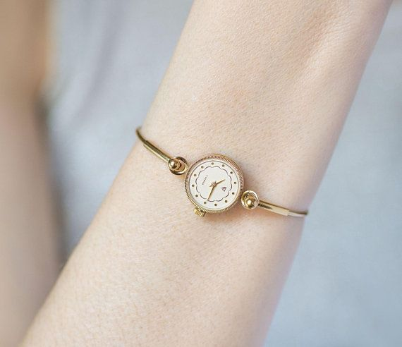 Women S Cocktail Watch Ring Bracelet Gold Plated Women S Wristwatch Round Seagull Watch Delicate Je Vintage Watches Women Small Watches Women Vintage Watches