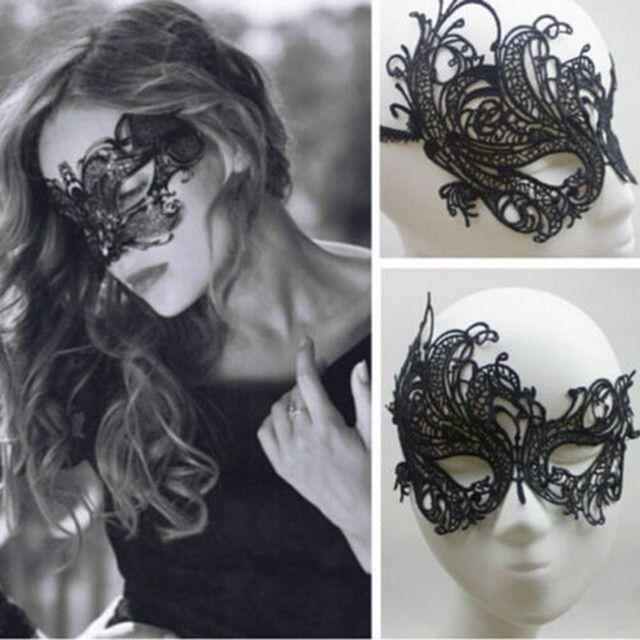 Halloween Mask Lady Lace Mask Cutout Eye Deguisement Cosplay Party Masquerade Masks