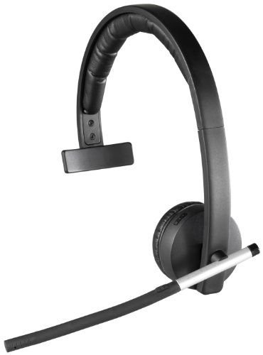 BUY NOW Logitech Wireless Headset Mono H820eView larger Included dock charges and pairs the headset View larger Logitech Wireless Headset Mono H820e Roam-Free, Distraction-Free Communication Logitech's best wireless headset combines enterprise-quality audio with the ability to move freely around the office. Now you don't always have to be at your computer to answer calls—and you can walk over to a co-worker's office for a quick answer whi
