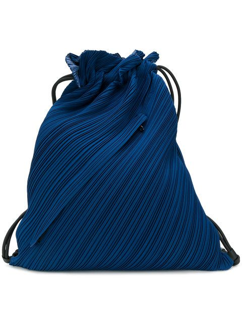 77c45608bcfb PLEATS PLEASE BY ISSEY MIYAKE textured drawstring bag.   pleatspleasebyisseymiyake  bags  polyester  nylon