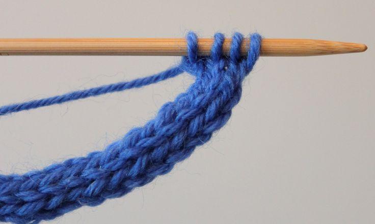 I-cord -nyörin neulominen. How to knit i-cord