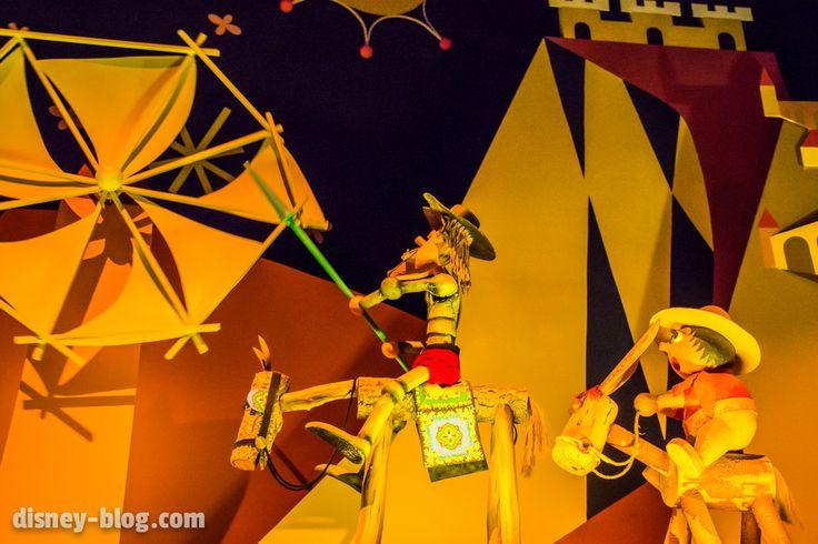 Don Quixote tilting at windmills on it's a small world at Disney's Magic Kingdom