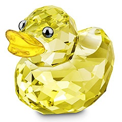 Yep, mmhhmm, we so rich, my baby's rubber duckie is made of Swarovski crystal! :O :P Sunny Sandy #swarovski