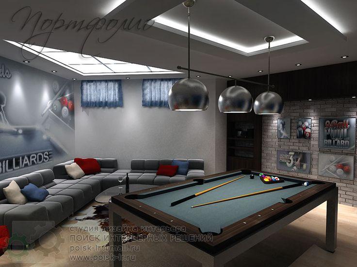 """Тема - """"в подвале дома""""- Тренажерные залы и бильярдные в частных домах - фото дизайна интерьера."""