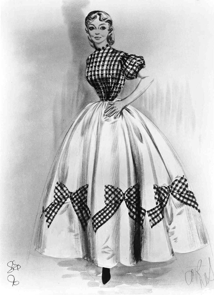 "Costume sketch from ""Seven Brides For Seven Brothers."""