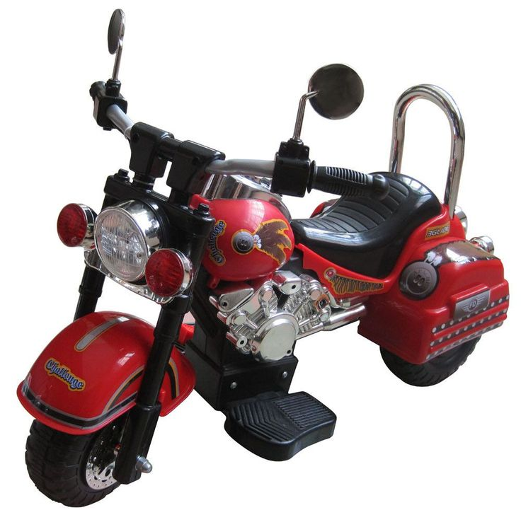 Harley Style 6V Battery Operated Kids Motorcycle (Red)