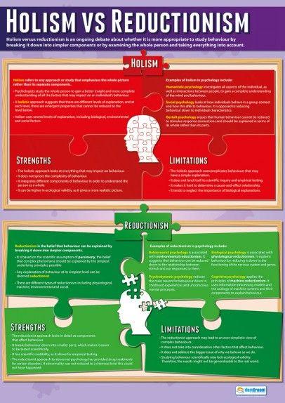 Holism vs Reductionism Psychology Poster