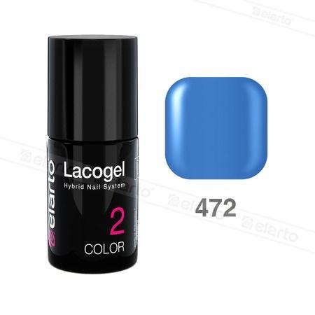 Lakier hybrydowy Lacogel nr 472 - błękit królewski 7ml #lacogel #elarto #błękit #królewski