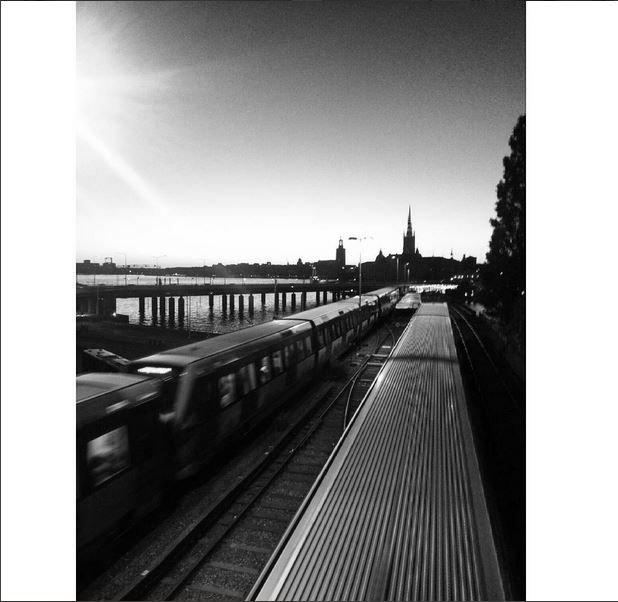 #train #trainspotting #sunset #stockholm #metro #tunnelbana
