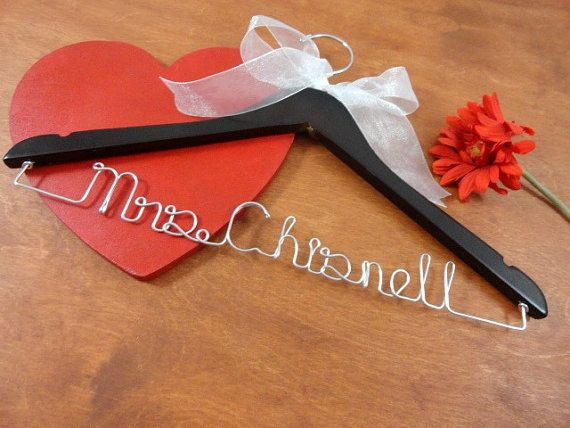 Personalized Name Hangers  Custom Name by OriginalBridalHanger  $24.99  Click on photo to BUY NOW!  What a wonderful bride hanger to hold your wedding dress. #originalbridalhanger creates a variety of hangers for your needs. Custom orders are welcome too! Wedding dress hangers are wonderful dress photo props, keepsakes, and make lovely gets for bridal showers and holiday gifts!  Click here: originalbridalhanger.etsy.com to see more!