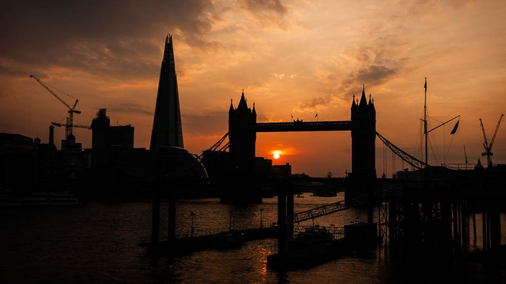 Sunset from St Katharine's - London