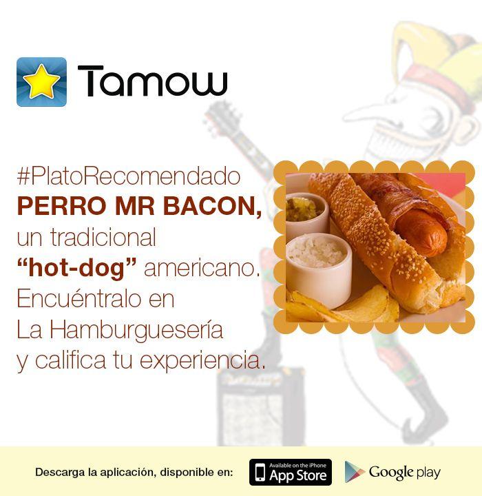 Si buscas un plato fuera de lo convencional para almorzar, te #Recomendamos el Hot-Dog Americano de la LA HAMBURGUESERIA. Pruebalo y #Califica este plato con Tamow.