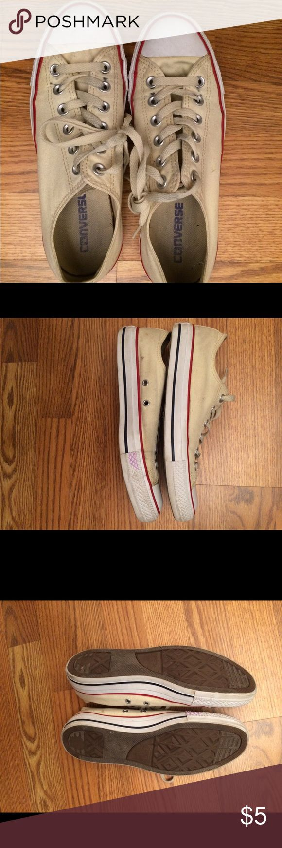 Off white converse Off white converse used Converse Shoes Sneakers