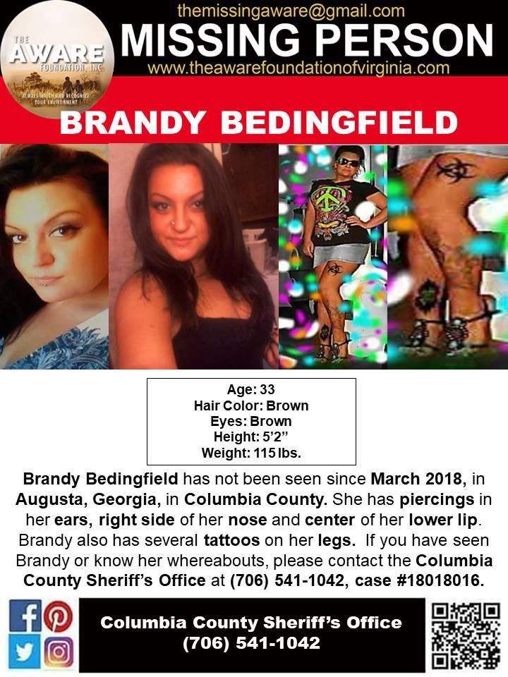 Find Missing Brandy Bedingfield! | Missing Persons | Missing persons
