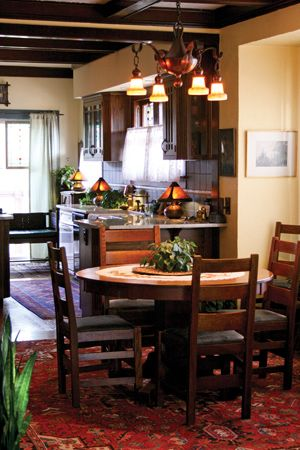 The Clean Lines And Rich Colors Of Arts Crafts Period Are On Display In Craftsman CottageThe CottageCraftsman StyleCottage Dining RoomsRich