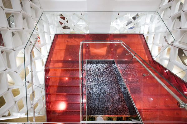 Scavolini SoHo Gallery   Interiors   Modern Stairs   Steel and glass   The railings, also in crystal, are embellished with a stainless steel handrail.