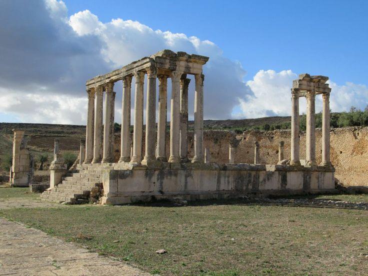 The 3rd century AD Temple de Juno Caelestis at Dougga, Tunisia, honored the Roman counterpart of the Carthaginian goddess Tanit.