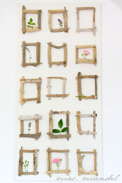 Beautiful DIY Driftwood Frames