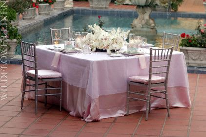 Matte Satin Light Pink Chivari Chair Pad Cover