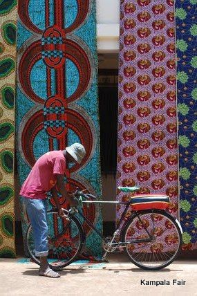 African Print Fabric from Uganda  http://www.yourlittleblackbook.me/kampala-city-guide-uganda/