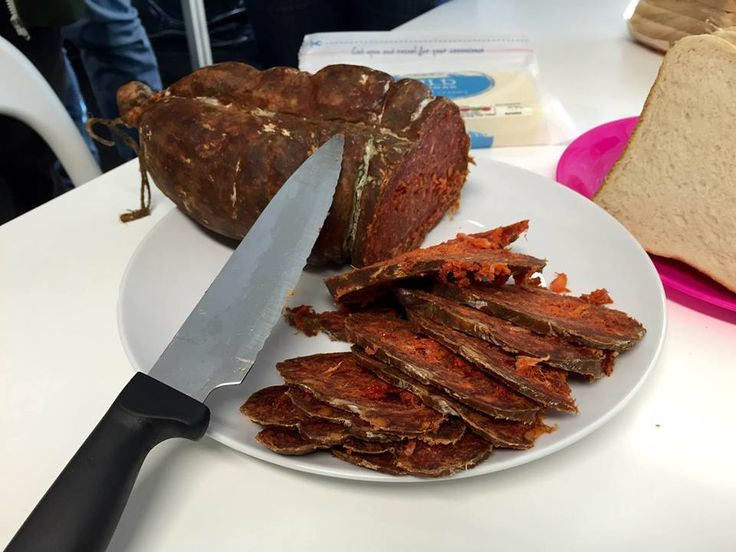 Croatian food at blur: Kulen!! #CulturalFriday