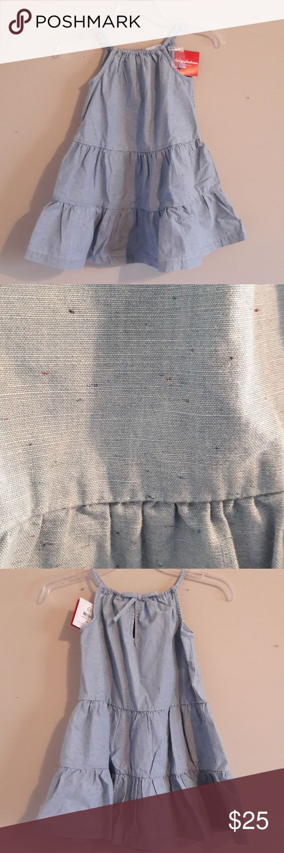 NWT Hanna Andersson Cotton Summer Dress Size  110 cm | US 5   42-46 in 37-48 lbs  New with tags. Looks denim from afar. So adorable!   Please message me with any questions   Thank you Hanna Andersson Dresses Casual