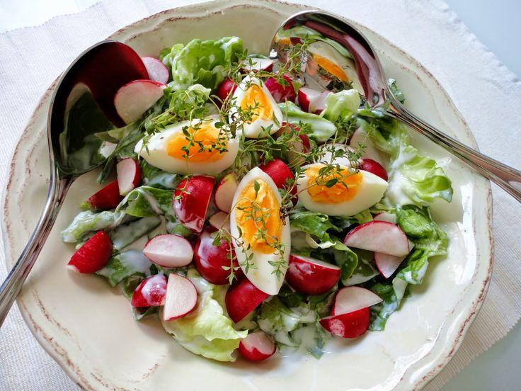 Pyry na Gaz: Dietetyczna sałatka z jajkiem