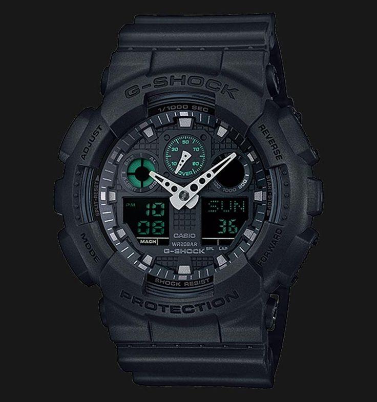 Beli jam tangan Casio G-Shock GA-100MB-1ADR - Daftar Harga jam termurah, review, spesifikasi lengkap Indonesia di Jamtangan.com