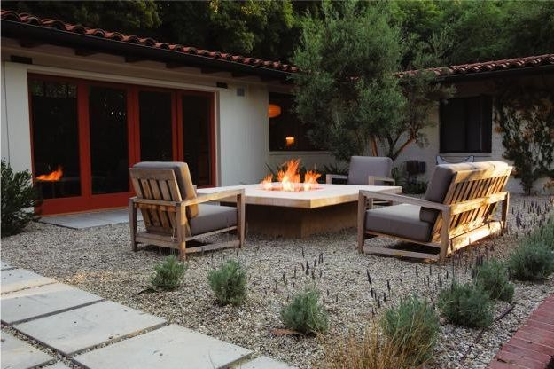 Great patio ideas. No need to create an entire patio with pavers, when you can save money and use pea gravel from Minick Materials.