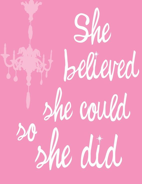 Yes she did!Bathroom Design, Pink Pink Pink, Wall Art, Little Girls, Go Girls, Happy Quotes, Girls Power, Baby Girls Room, Inspiration Quotes